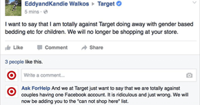 Troll Creates Fake Target Customer Service Account, Responds To Gender-Neutral Haters