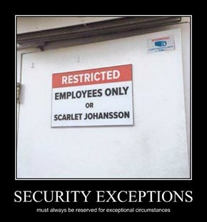 SECURITY EXCEPTIONS