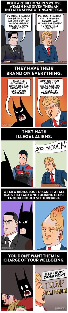The True Comparison of Batman and Trump