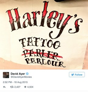 The Cast of Suicide Squad Tattoo Each Other