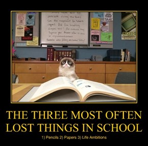 THE THREE MOST OFTEN LOST THINGS IN SCHOOL