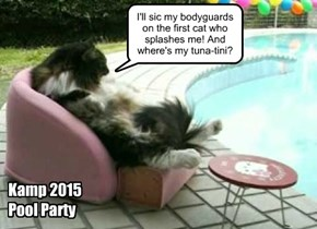 Foofany gets into the Pool Party spirit.