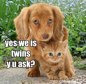 yes we is twins y u ask?