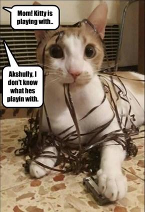 What is dis. Som kinda ribbon or sumfing.