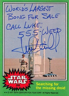 Autographs of the Day: Mark Hamill Will Write Whatever the Eff He Wants on Your Star Wars Memorabilia