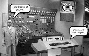 "Harold "" Watch 'Em "" Wentworth and His New Spy Machine"