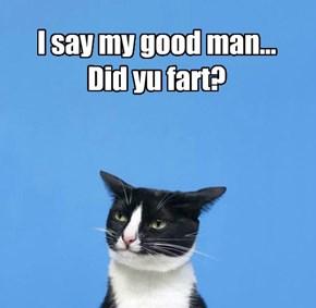 I say my good man... Did yu fart?