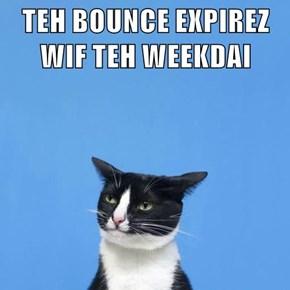 TEH BOUNCE EXPIREZ WIF TEH WEEKDAI
