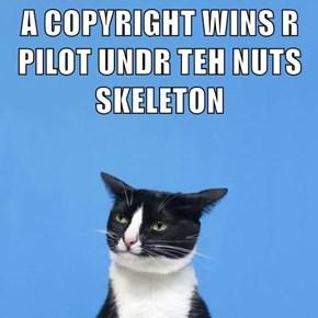 A COPYRIGHT WINS R PILOT UNDR TEH NUTS SKELETON