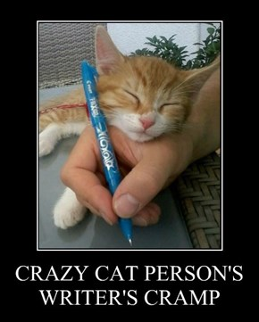 CRAZY CAT PERSON'S WRITER'S CRAMP