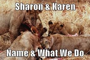 Sharon & Karen  Name & What We Do