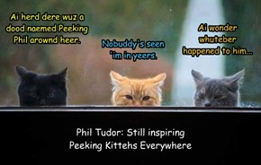 Phil Tudor: Still inspiring Peeking Kittehs Everywhere