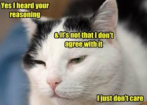 Yes I heard your reasoning