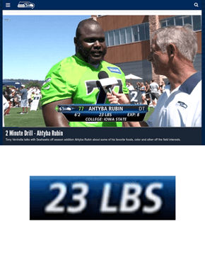 One of the New Seahawks Players is Awfully Light