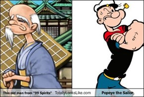 "This old man from ""99 Spirits"" Totally Looks Like Popeye the Sailor"