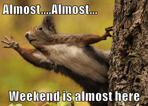 Almost....Almost...  Weekend is almost here