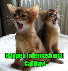 Happeh Internashunal Cat Day!