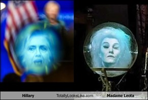 Hillary Totally Looks Like Madame Leota