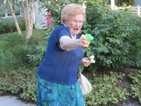 Photoshop of the Day: Granny Gets Her Gun and a Whole Lot More