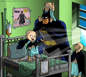 Good Guy Batman Helps Out