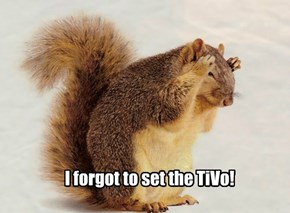 I forgot to set the TiVo!