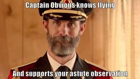 Captain Obvious knows flying  And supports your astute observation