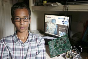 Hashtag of the Day: A Homemade Clock Gets a 9th Grader Arrested and Now Many, Many People Stand with Ahmed