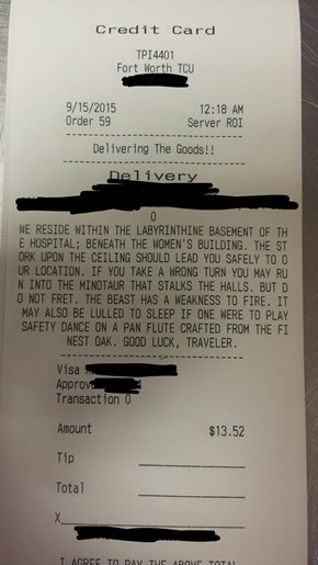 The Instructions Left for This Pizza Delivery Guy are Straight Out of a Fantasy Novel