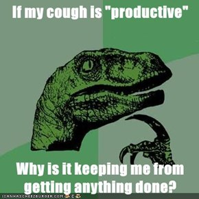 "If my cough is ""productive""  Why is it keeping me from getting anything done?"