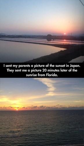 Scenic Moments Half-Way Around the World