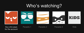 When Dad Creates Netflix Profiles