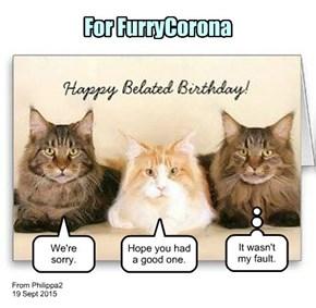 Happy Birthday, FurryCorona!