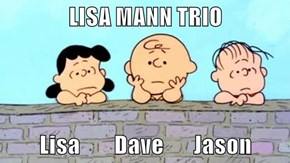 LISA MANN TRIO  Lisa        Dave       Jason