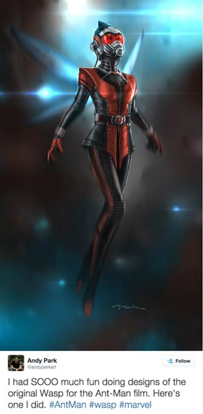 Andy Park's First Wasp Design from 'Ant-Man'