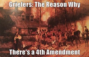 Griefers: The Reason Why  There's a 4th Amendment