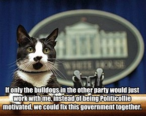"""Like"" and ""Share"" if you think all Politicollies should be voted into the Doggie Pound"