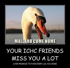 YOUR ICHC FRIENDS MISS YOU A LOT