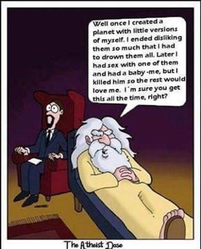 Deranged Yahweh...