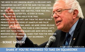 Bernie Sanders Tackles SquareEnix