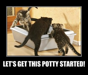 LET'S GET THIS POTTY STARTED!