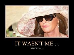 IT WASN'T ME . .