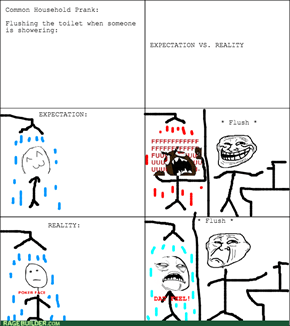 Flushing the Toilet During a Shower
