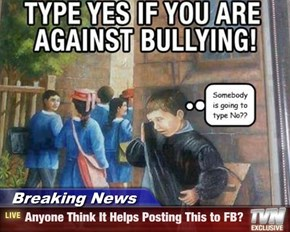 Breaking News - Anyone Think It Helps Posting This to FB?