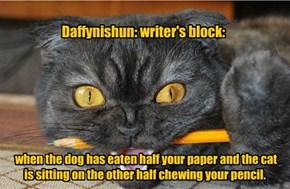 Daffynishun: writer's block:
