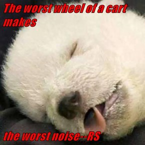 The worst wheel of a cart makes  the worst noise--RS