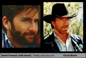 David Tennant (with beard) Totally Looks Like Chuck Norris