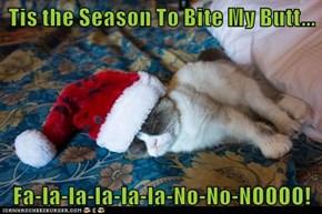 Tis the Season To Bite My Butt...   Fa-la-la-la-la-la-No-No-NOOOO!