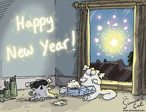 Happy New Year from Simon's Cat!