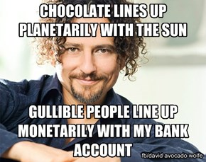 CHOCOLATE LINES UP PLANETARILY WITH THE SUN