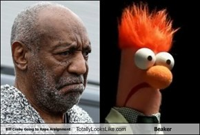 Bill Cosby Going to Rape Araignment Totally Looks Like Beaker